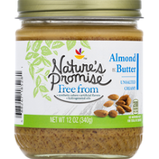 Nature's Promise Almond Butter, Unsalted, Creamy