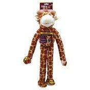 Multipet Dog Toy, Swinging Safari Giraffe