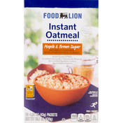 Food Lion Oatmeal, Instant, Maple & Brown Sugar