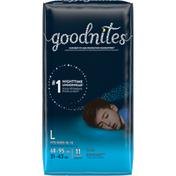 GoodNites Boys' Nighttime Bedwetting Underwear, L (68-95 lb.)