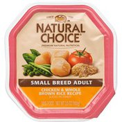 NUTRO Natural Choice Small Breed Adult Chicken & Brown Rice Slices in Gravy Dog Food