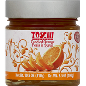 Toschi Orange Peels, Candied, in Syrup