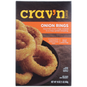 Crav'n Flavor Onion Rings Gourmet Onion Rings Covered In A Crispy Golden Breading