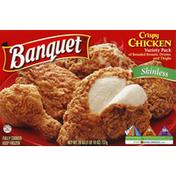 Banquet Chicken, Crispy, Variety Pack, Skinless