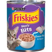 Purina Friskies Wet Cat Food, Meaty Bits Ocean Fish in Sauce