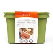 Full Circle Scrap Happy, Scrap Collector & Freezer Compost Bin, Green