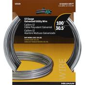 Hillman Group Utility Wire, Galvanized, 12 Gauge