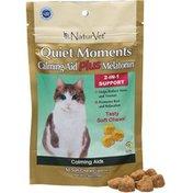 NaturVet Quiet Moments Calming Aid Plus Melatonin Soft Cat Chews