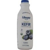 Lifeway Blueberry Organic Kefir Natural Cultured Lowfat Milk