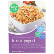 Food Club Fruit & Yogurt Crispy Rice & Wheat Flakes Cereal With Oat & Fruit
