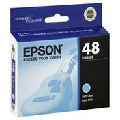 Epson Ink Cartridge, Light Cyan, 48