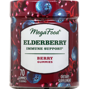 MegaFood Immune Support, Elderberry, Berry Gummies