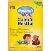 Hyland's 4 Kids Calm 'n Restful Natural Children's Sleep Aid  and Stress Relief Tablets