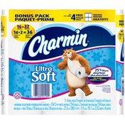 Charmin Ultra Soft Double Rolls  Bathroom Tissue