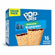 Kellogg's Pop-Tarts Toaster Pastries, Breakfast Foods, No Frosting, Unfrosted Blueberry