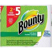 Bounty White, Huge Rolls = 5 Regular Rolls  Paper Towels