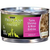 Purina Pro Plan Finesse Tuna Shrimp & Rice Entree Adult Canned Cat Food In Sauce