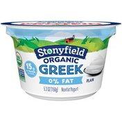 Stonyfield Organic Greek Plain Nonfat Yogurt