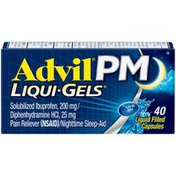 Advil PM Pain Reliever and Nighttime Sleep Aid, PM Pain Reliever and Nighttime Sleep Aid