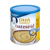 Gerber DHA & Probiotic Single Grain Oatmeal Cereal for Baby