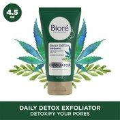 Bioré Daily Detox Creamy Face Exfoliator, Infused w/ Organic Cannabis Sativa Seed Oil & Green Tea