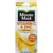 Minute Maid Juice Beverage, 25% Orange, Low Pulp