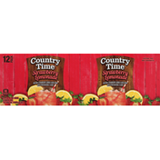 Country Time Lemonade, Strawberry, 12 Pack