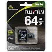 Fujifilm MicroSDXC Card, UHS-I, 64 gb