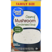Great Value Condensed Soup, Cream of Mushroom, Family Size
