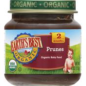 Earth's Best Baby Food, Organic, Prunes, 2 (6 Months+)