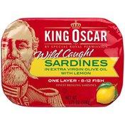 King Oscar Sardines in Lemon