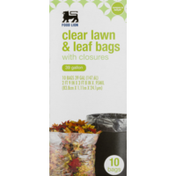 Food Lion Clear Lawn & Leaf Bags, With Closures