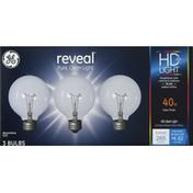 GE Light Bulbs, Clear Finish, 40 Watts