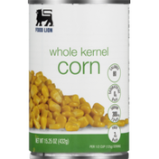 Food Lion Corn, Whole Kernel, Can