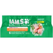 IAMS ProActive Health Chunks Chicken Spring Vegetables and Rice Flavor in Sauce Adult Dog Food