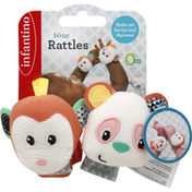 Infantino Wrist Rattles, Monkey/Panda