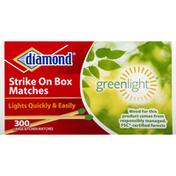 Diamond Matches, Strike On Box