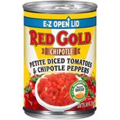 Red Gold Chipotle Tex-Mex Petite Diced Tomatoes & Chipotle Peppers