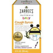 Zarbee's Naturals Baby Cough Syrup with Agave & Thyme, Natural Grape