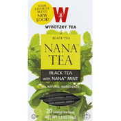 Wissotzky Tea Tea, Black, with Nana Mint