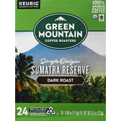 Green Mountain Coffee, 100% Arabica, Dark Roast, Sumatra Reserve, K-Cup Pods