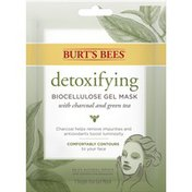 Burt's Bees detoxifying BIOCELLULOSE GEL MASK with charcoal and green tea