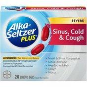 Alka-Seltzer Plus Severe Sinus Cold & Cough Liquid Gels Multi-Symptom Relief