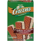Green's Green's Cookies 'n Cream Ice Cream Sandwich