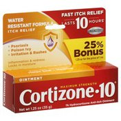 Cortizone 10 Itch Relief, Water Resistant Formula, Ointment