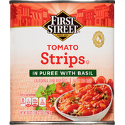 First Street Tomato Strips in Puree with Basil