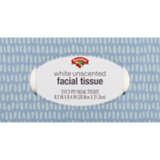 Hannaford White Unscented Facial Tissue