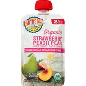 Earth's Best Stage 2 Strawberry Peach Pear with Yogurt, Oat & Quinoa Organic Wholesome Breakfast Puree