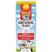Horizon Organic Growing Years Whole DHA Omega-3 Milk