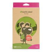 Earth Rated Lavender Dog Waste Bags with Handles